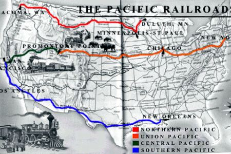 map of transcontinental railroad route » Full HD MAPS Locations ...