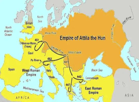 European Hun Empire - 375-469 AD