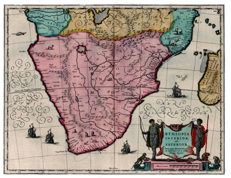 South Africa   History Maps South Africa Map   1635 South Africa Map   1642