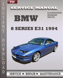 BMW 8 Series e31 1994 manual