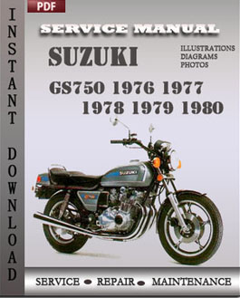 suzuki gs750 1976 1978 workshop repair manual repair. Black Bedroom Furniture Sets. Home Design Ideas