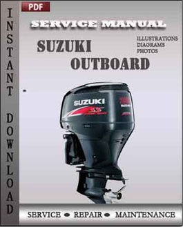 Suzuki outboard df90 repair service manual pdf for Suzuki outboard motor repair
