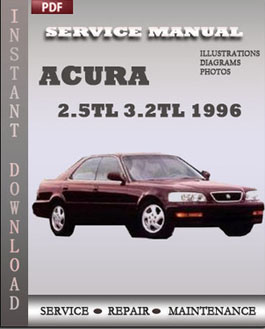 Acura 2.5TL 3.2TL 1996 manual