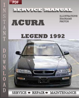 Acura Legend 1992 manual