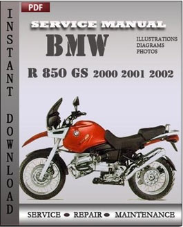 bmw r 850 gs 2000 2001 service repair manual repair service manual pdf. Black Bedroom Furniture Sets. Home Design Ideas