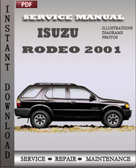 Isuzu Rodeo 2001 manual