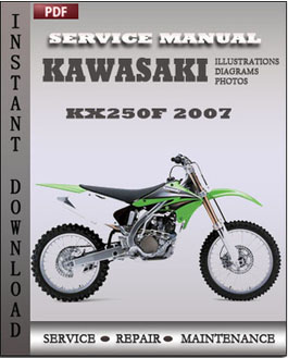 Kawasaki KX250F 2007 manual