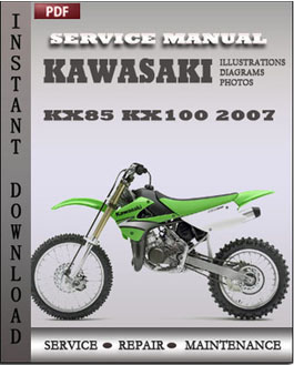 Kawasaki KX85 KX100 2007 manual
