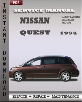 Nissan Quest 1994 manual