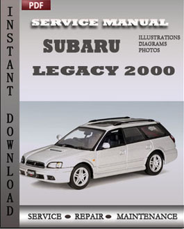 subaru legacy 2000 service manual pdf repair service. Black Bedroom Furniture Sets. Home Design Ideas