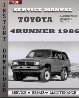 toyota 4runner 1986 service maintenance repair manual online rh servicemaintenancerepairmanuals wordpress com 1986 toyota 4runner factory service manual 1989 toyota 4runner service manual online