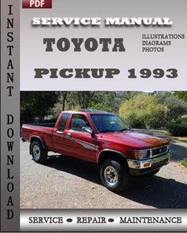 Toyota Pickup 1993 manual
