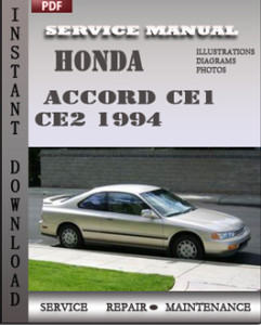 Honda Accord CE1 CE2 1994 global