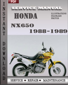 Honda Nx650 1988 1989 Engine Service Manual Online Service Manuals