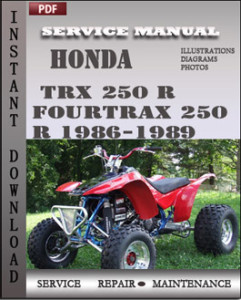 Honda TRX 250 R Fourtrax 250 R 1986-1989 global