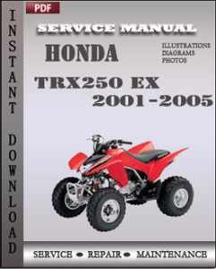 Honda TRX250 EX 2001-2005 global