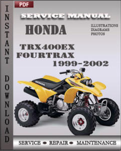 Honda TRX400EX Fourtrax 1999-2002 global