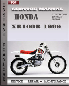 Honda XR100R 1999 global