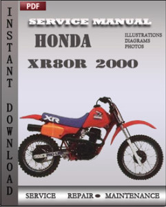 Honda XR80R 2000 global