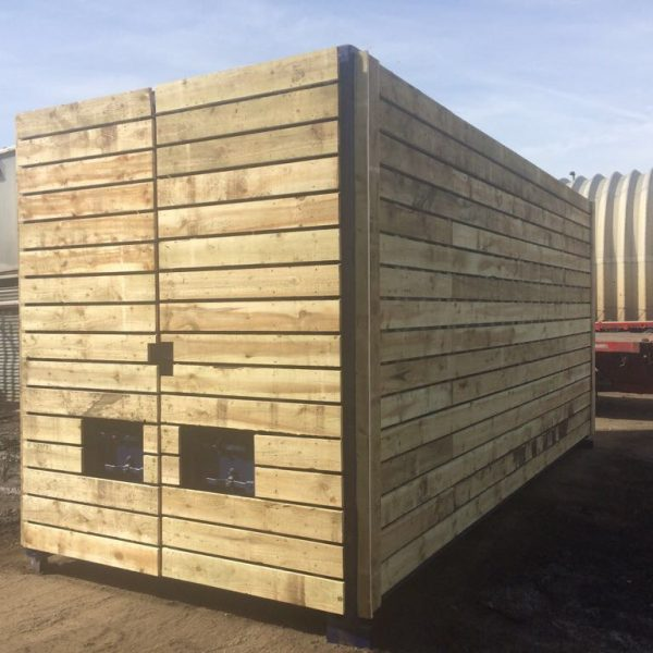 20ft X 8ft Blue Used High Cube Shipping Container Timber