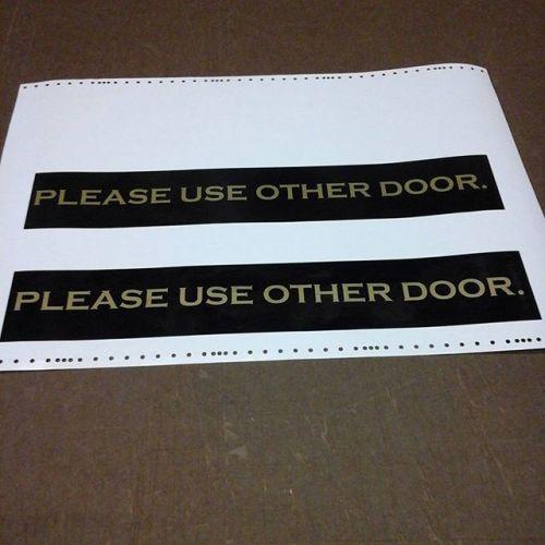 Vinyl door lettering