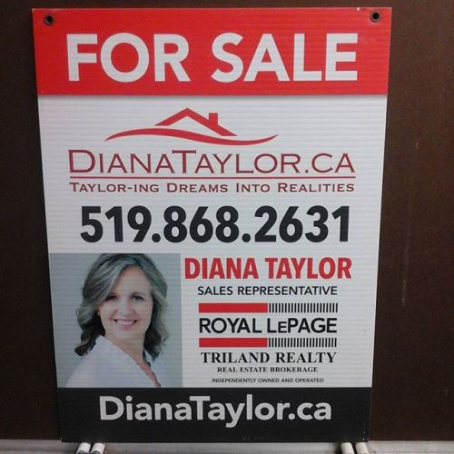 Real Estate sign updated