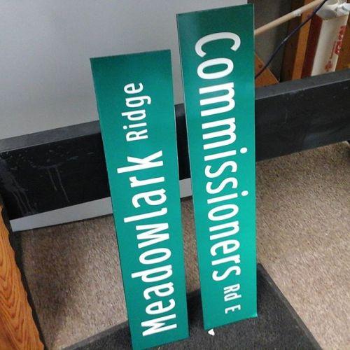Imitation Street Signs