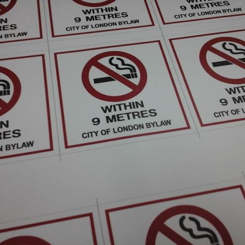 No Smoking Stickers
