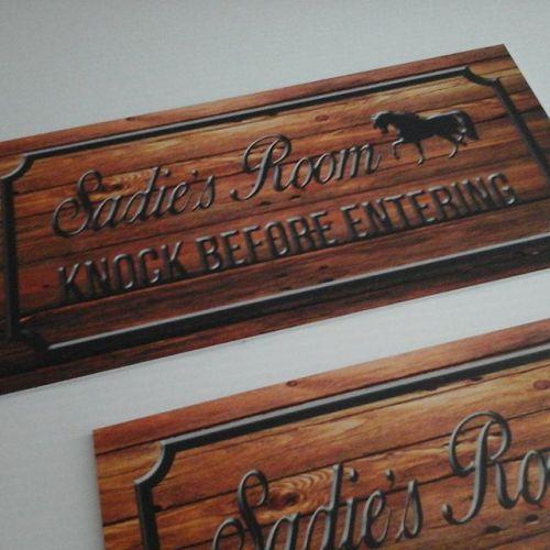 Wood Print Signs