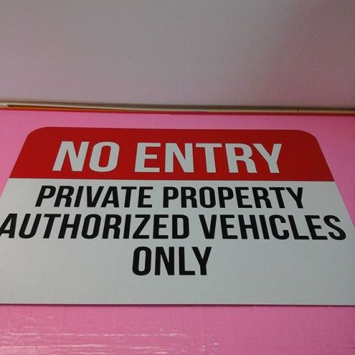 Private Property, reflective