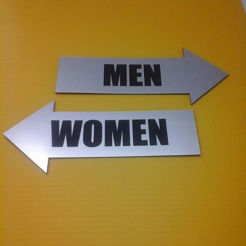 Lasered washroom signs