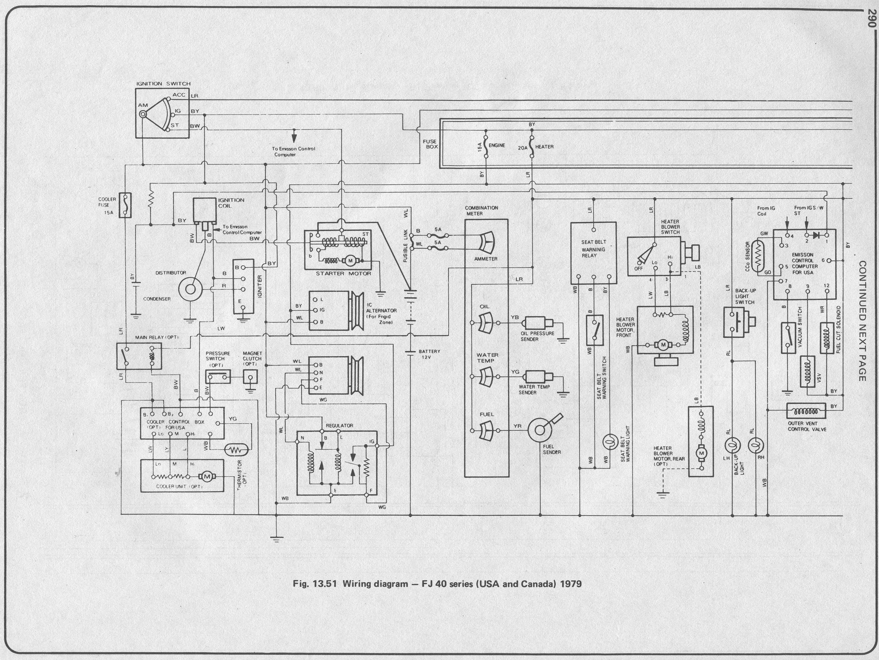 Electrical Schematic For 78 Bj40 Lhd