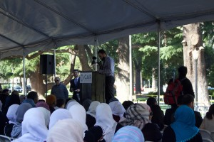 Students gather for workshops during Muslim Day at the Capitol. Photo by Jack Hennessy.