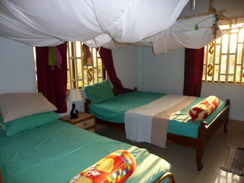 Volunteer accommodation at the Cambodia Bear Rescue Project