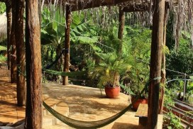 Chill out zone at the Cambodia Elephant sanctuary