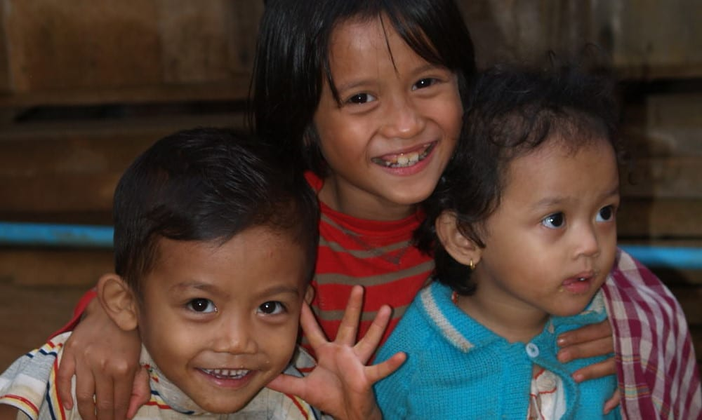 Children at the Cambodia Indigenous people's project