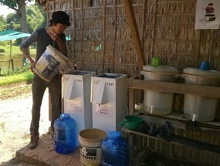 water filters at the Cambodia Clean water project