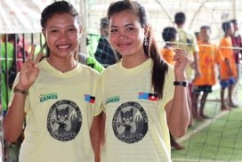 Cambodia Students at Sports Programme Games