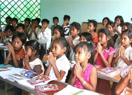 Class at the Cambodia Community Project