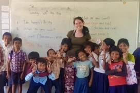 Volunteer teaching at Community project