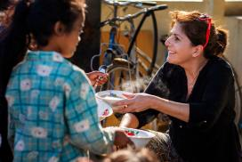 Female Volunteer in Cambodia