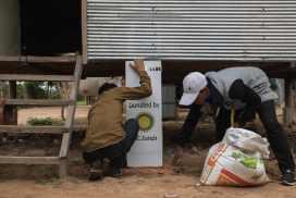 Installing clean water filters in rural villages surrounding Siem Reap
