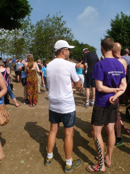Having a chat before the 12.12 runners set off
