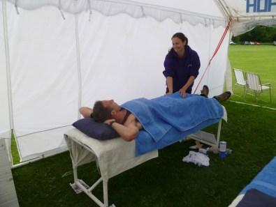 Lynne massaging the Winner