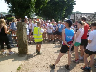 Dave doing the safety briefing for the 12.12 milers
