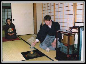 Tim doing Japanese tea ceremony