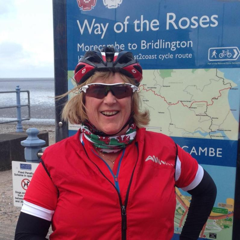 Anne Hodgkins: cyclist+knee replacement