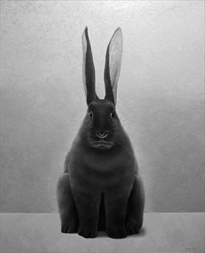 Painting Black Hare by artist Shao Fan Photo: Courtesy of Shao Fan<br /><br /><br />