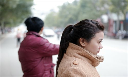Re Thi Cam Hanh, a young Vietnamese woman, marries Chen Lei, a man from Hong'an, Hubei Province, in January. Photo: CFP