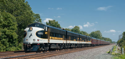 CHUGGING ALONG Norfolk Southern and CSX Transportation combine to operate more than 4,200 miles of Class I railroad tracks in the state of Indiana.